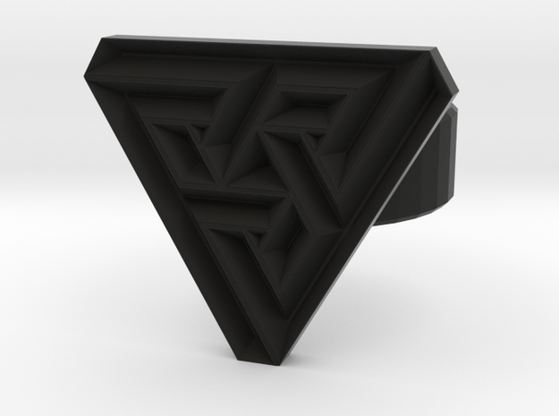100321 triangle angle ring 3d printed