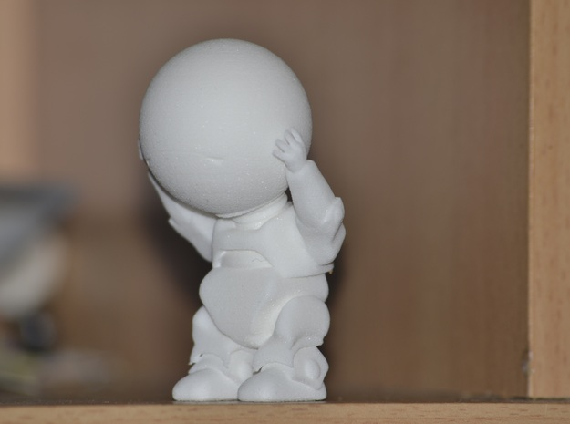 Marvin the paranoid android in White Natural Versatile Plastic