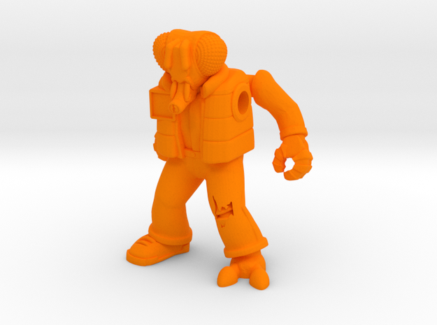 Muty McFly Parody Figure in Orange Processed Versatile Plastic