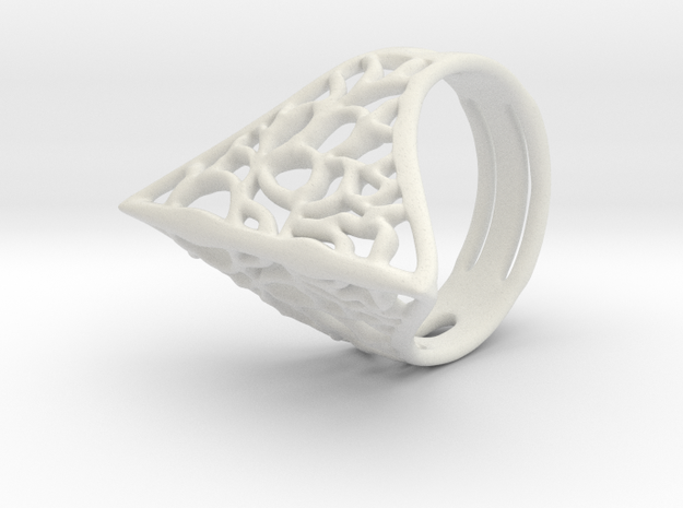 Pursuit Ring - EU Size 53 in White Natural Versatile Plastic