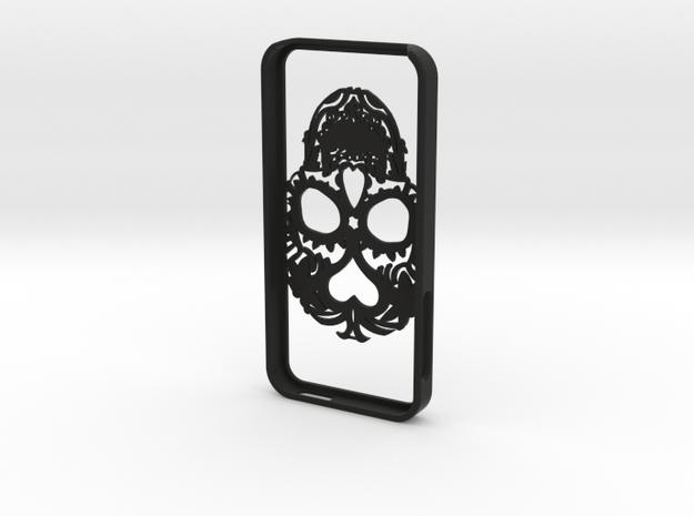 Iphone 5 Hoesje Bjorn Kant 0.80 Skull in Black Strong & Flexible