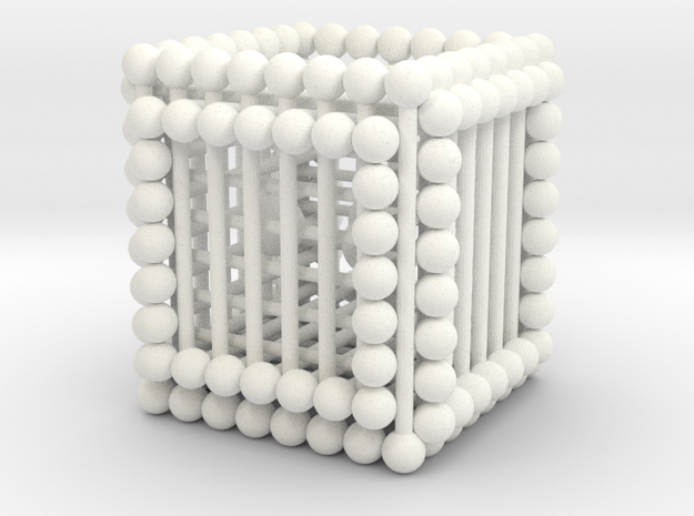 Matsh Cube Balls in White Strong & Flexible Polished