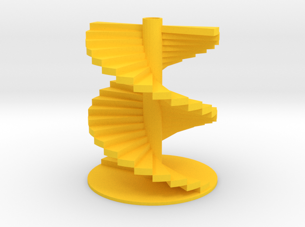 Leonardo Stairs in Yellow Processed Versatile Plastic