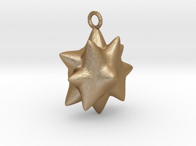 Chubby Star Pendant.  in Matte Gold Steel