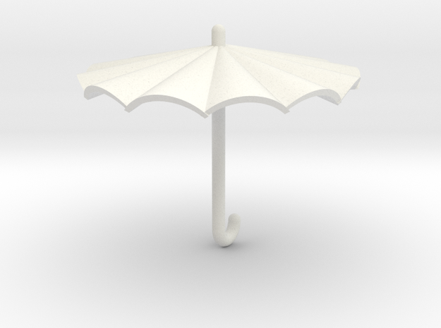 Umbrella in White Natural Versatile Plastic