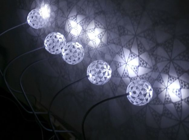 Part of stereographic projection lamp