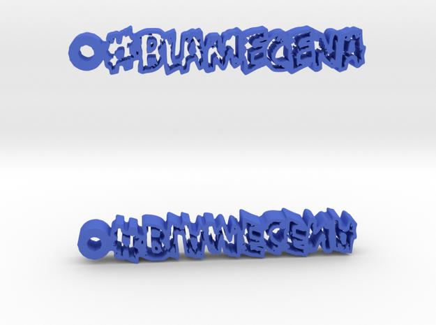 #BlameCena Earrings 3d printed