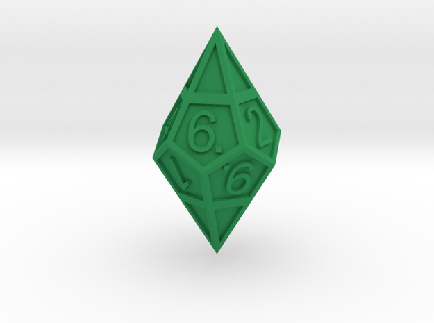 D10 Framed Diamond Dice 3d printed