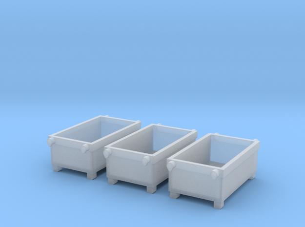N 1:160 Materialcontainer f眉r Kran(3 Stk) in Smooth Fine Detail Plastic