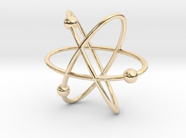Atom Pendant in 14K Yellow Gold