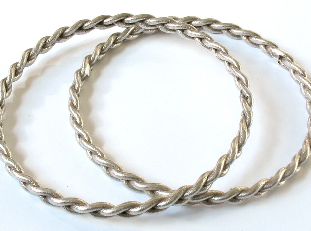 Braid bangle 3d printed Printed in polished silver as a wedding gift!
