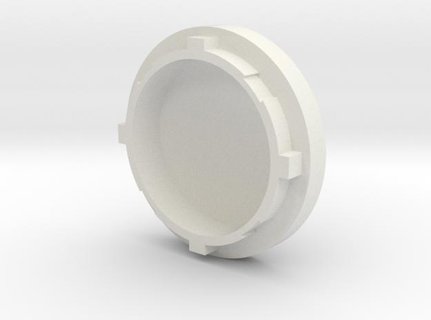 Bow Engine Cap 0.1 in White Natural Versatile Plastic