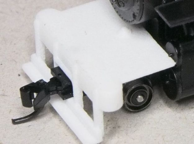 HOn30 switch pilot for 2-8-0 steam loco in White Processed Versatile Plastic