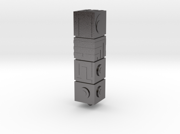 Monument Valley - The Totem keyring in Polished Nickel Steel