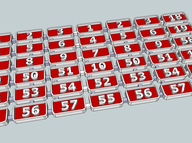 N.C.C WT&Y class Number plates in Smooth Fine Detail Plastic