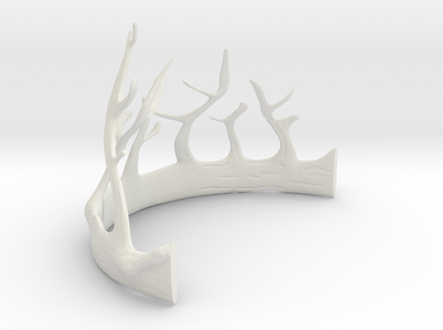 Renly Baratheon's crown Part 1 of 2 in White Natural Versatile Plastic