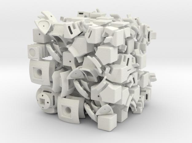 Saturn DoDep 3x3x3 in White Natural Versatile Plastic