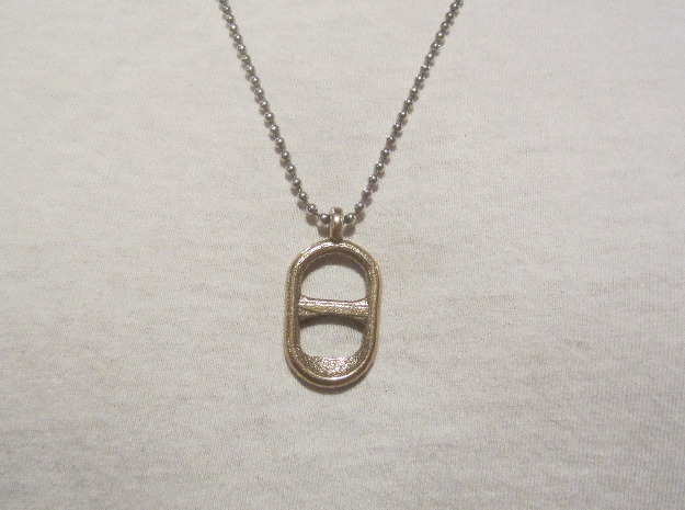 Tab Pendant in Stainless Steel