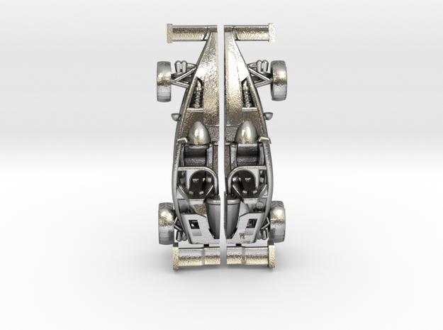 Ariel Atom earrings, 109th scale LHD w/wings in Raw Silver