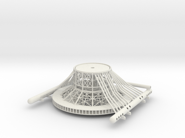 Tower Base V0.5a in White Natural Versatile Plastic