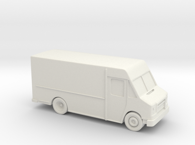 Delivery Truck 3 Inch in White Natural Versatile Plastic