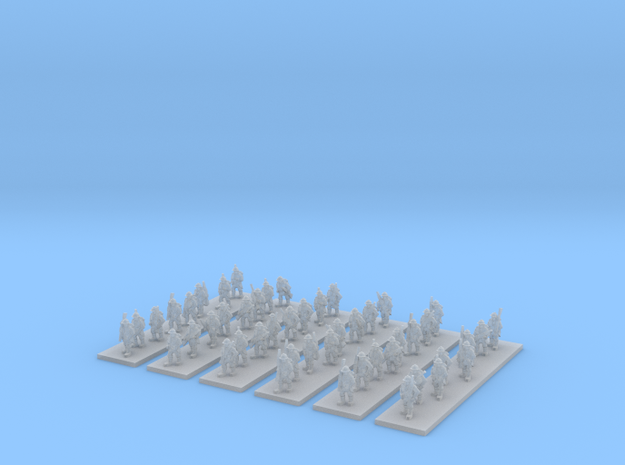 1/220 WW1 French infantry marching x48 in Frosted Ultra Detail