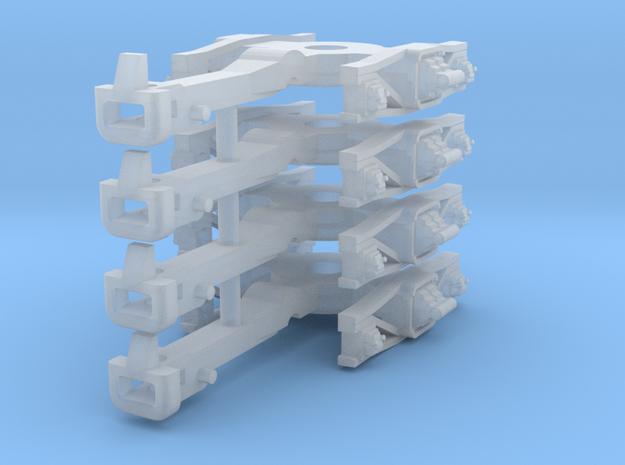 ZB (H0e) - 2P Drehgestelle für 4-ax Pw (Bosna) in Smooth Fine Detail Plastic