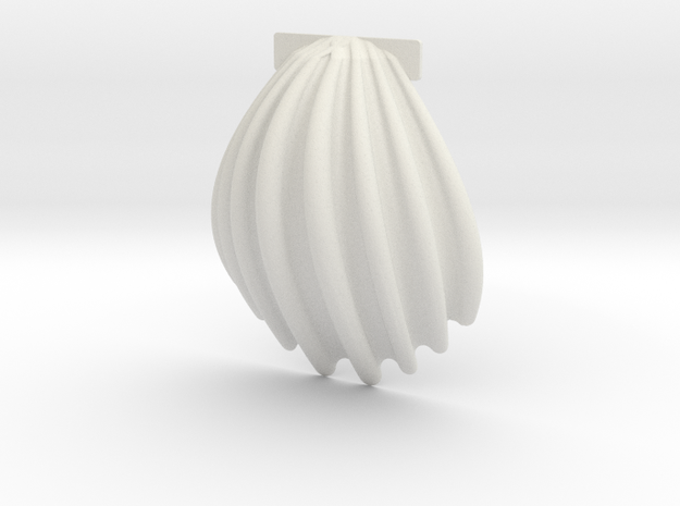 Scallop Approx 80mm / Jakobsmuschel ca. 80mm in White Natural Versatile Plastic