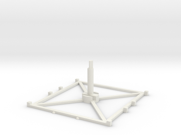 Stand Large x1 3.0 in White Natural Versatile Plastic