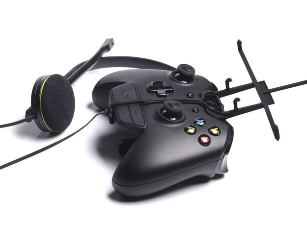 Xbox One controller & chat & Micromax Funbook Talk 3d printed Without phone - A Nexus 7 and a black Xbox One controller & chat