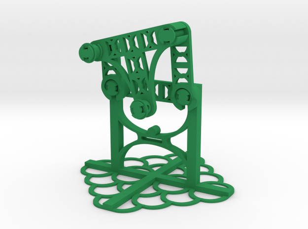 Crank Rocker in Green Strong & Flexible Polished