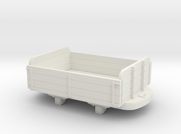 Gn15 3 plank dropside wagon  in White Strong & Flexible
