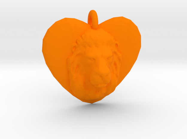 LEO LOVE in Orange Processed Versatile Plastic