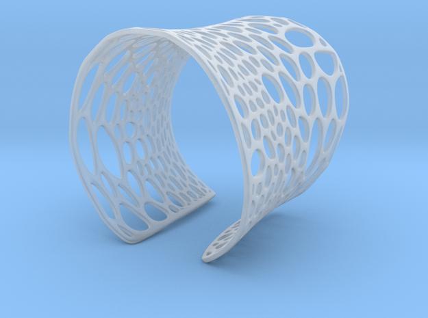 Voronoi bracelet #2 (LARGE) 3d printed