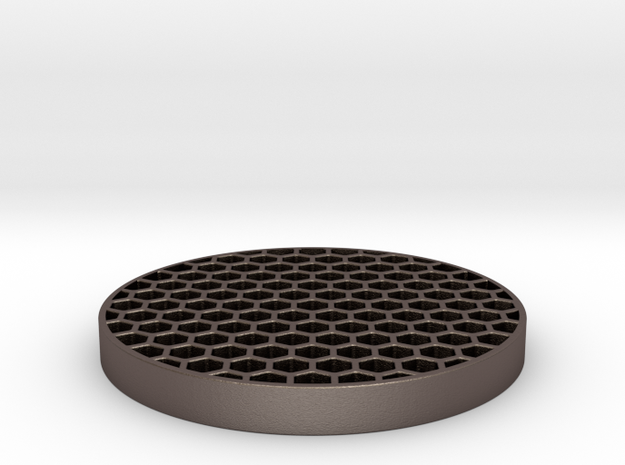 Honeycomb KillFlash 48mm 0.77mm thick 5mm height in Polished Bronzed Silver Steel