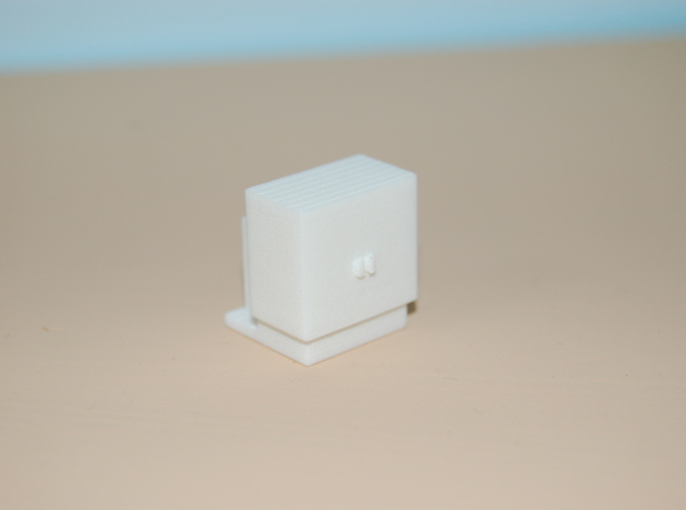 1/87 HO Scale Electrical Cabinet in White Natural Versatile Plastic