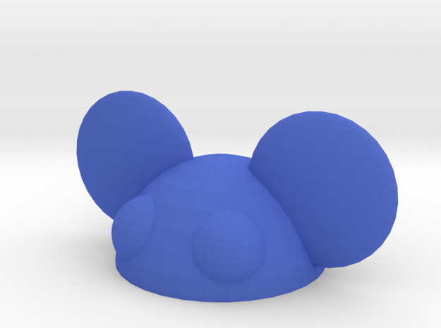 halfmau5 paperweight in Blue Strong & Flexible Polished