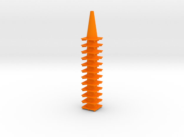 "18"" traffic cones 1/12th (12) in Orange Processed Versatile Plastic"