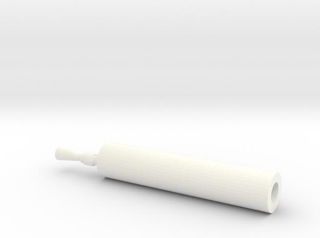 Maxim Gun 1-25 in White Processed Versatile Plastic