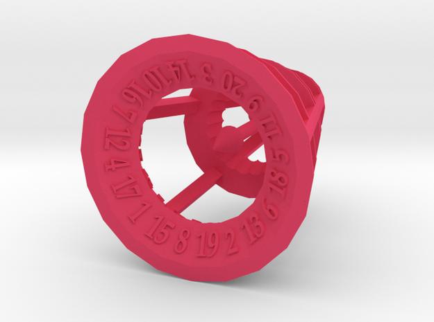 Rolling Bell Die20 3d printed