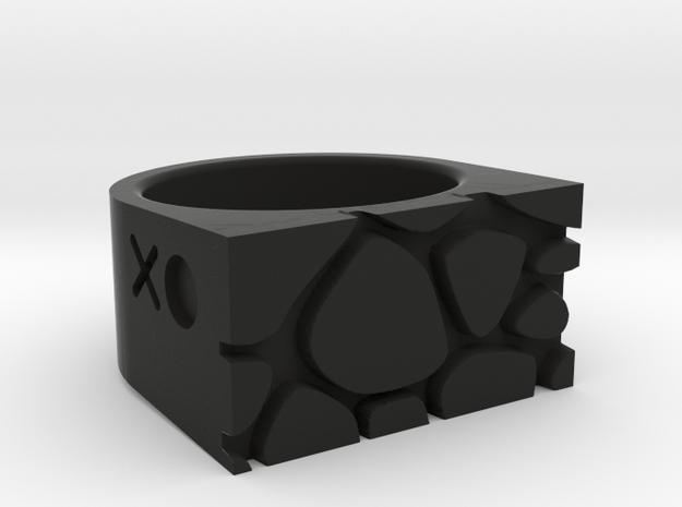 Giraffe Ring in Black Natural Versatile Plastic