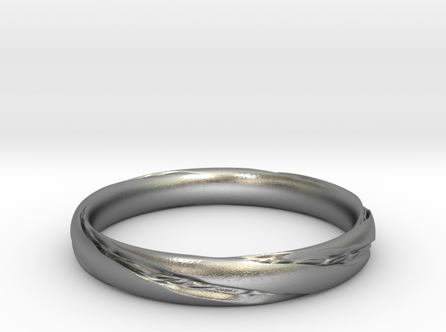 Hilbert's Ring in Natural Silver