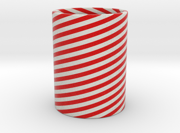 Cleophea Tealight Red Twirl in Full Color Sandstone