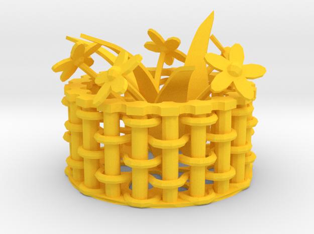 Weaving basket 3d printed Weaving basket