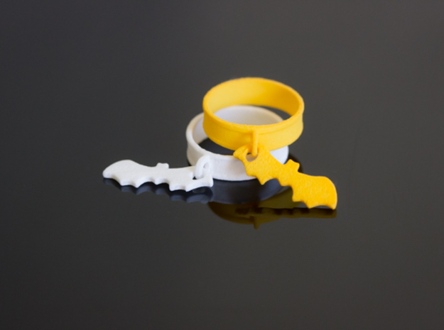 Bat Charm Ring in Yellow Processed Versatile Plastic: 5 / 49