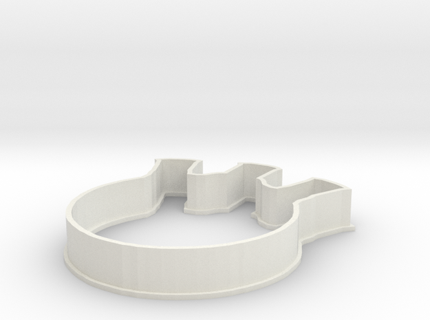 Flask Cookie Cutter in White Strong & Flexible