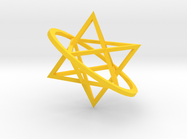 Double tetrahedron 3d printed