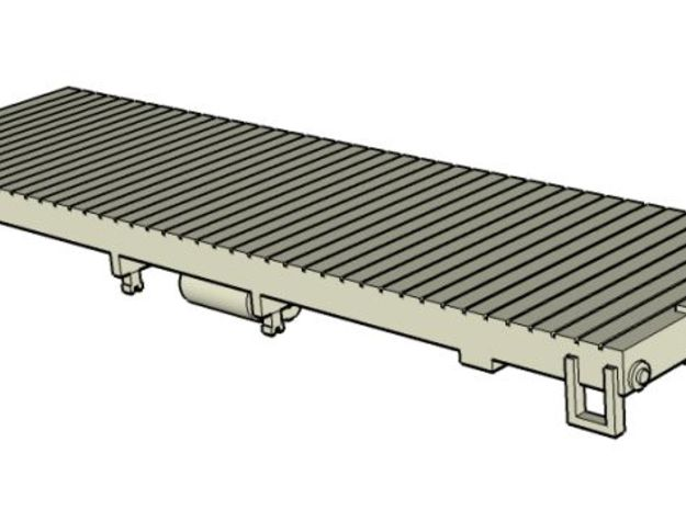HOn30 25 foot flatcar (without stake pockets) in White Natural Versatile Plastic