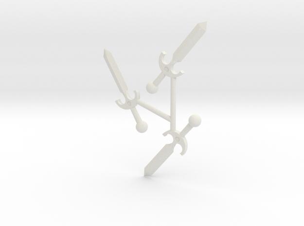 Tri-Daggers in White Natural Versatile Plastic