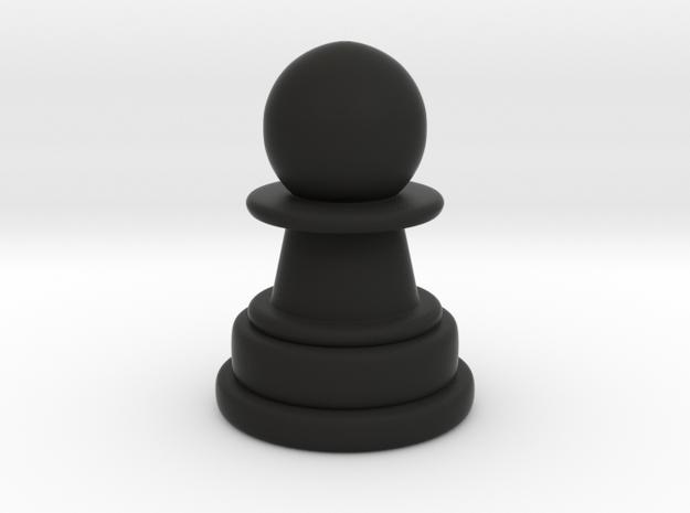 Pawn in Black Natural Versatile Plastic